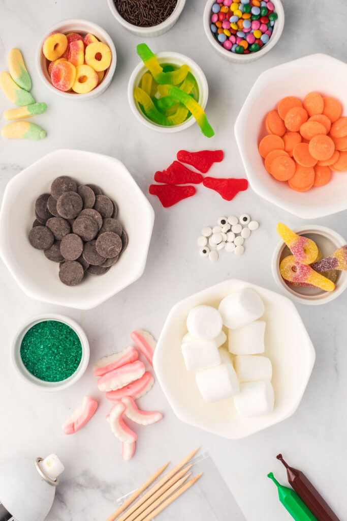bulk candy to be used for Monster Candy Kabobs